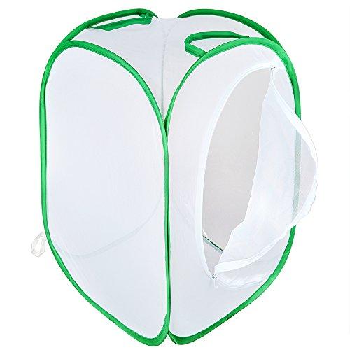 Pllieay Faltbares Insektennetz für Kinder, 60 cm hoch, Weiß