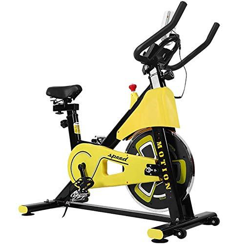 YRX Bicicleta de Ejercicios con Control magnético, con Monitor LCD, máquinas de Cardio, Volante de 6 kg, para Gimnasio en casa