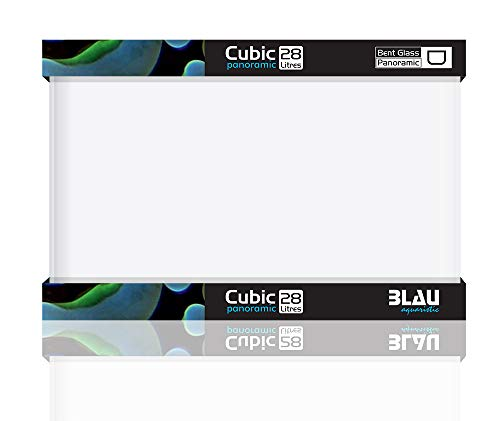 Blau Cubic Nano Rechteckbecken 28 Liter Floatglas 40x25x28 cm.