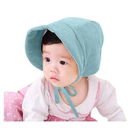 Gbksmm Deportes y aire libre Unisex color sólido pana gorros para bebés lote visera para el sol gorra gorra sombrero de verano para niñas algodón Casual moda-Blue_China