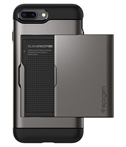Spigen Slim Armor CS Designed for Apple iPhone 8 Plus Case (2017) / Designed for iPhone 7 Plus Case (2016) - Gunmetal