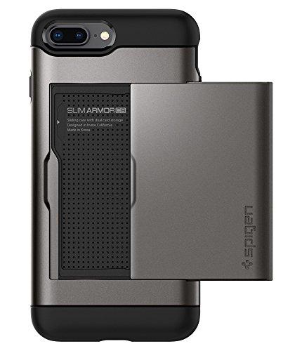Spigen Slim Armor CS Designed for iPhone 8 Plus Case (2017) / Designed for iPhone 7 Plus Case (2016) - Gunmetal