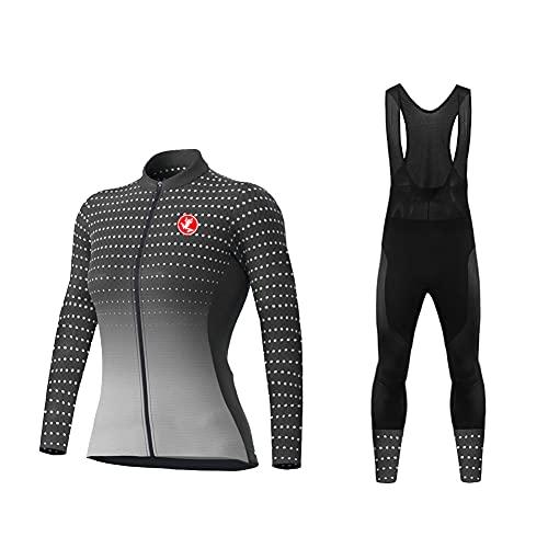 UGLY FROG Quick Dry Außen Jersey,Fahrradbekleidung, Langärmelige Fahrradbekleidung, Anzug + Hose, Warme Fahrradbekleidung Für Damen Im Winter