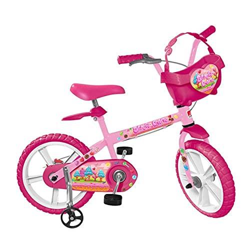 Bicicleta Aro 14' Sweet Game, Bandeirante, 3030, Rosa