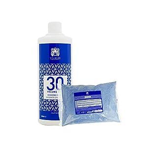 Válquer Profesional Profesional Pack Oxigenada Estabilizada en Crema, 30 Volúmenes (9%) 1000 Mililitros + Polvo Decolorante 500 Gr, 1500 G, 2 Unidades
