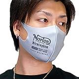 [ノートン] ユニオンジャックロゴ ポリウレタンマスク 洗える立体型 1枚組 抗菌防臭 UVカット NORTON メール便対応 99n8902 (グレー)