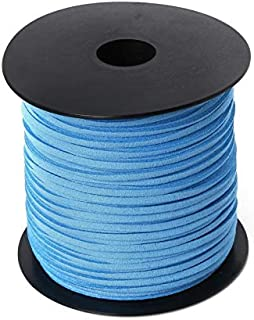LMJWJ 2.8mm 100Yard Macrame Braided Faux Suede Cord Leather Lace DIY Handmade Beading Bracelet Jewelry Making Flat Thread ...