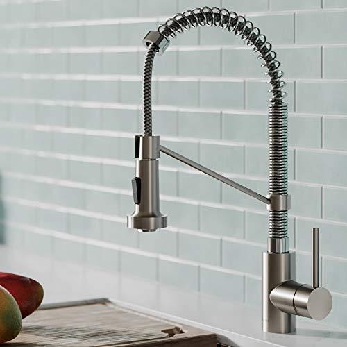 Kraus KPF-1610SFSCH Bolden Kitchen Faucet, Spot Free Stainless Steel/Chrome