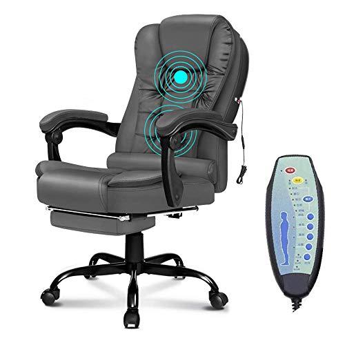 AIMCAE Sedia da Ufficio per Massaggi Sedia Girevole ergonomica ergonomica riscaldata con Schienale Alto, Comoda e allevia la Fatica,Nero