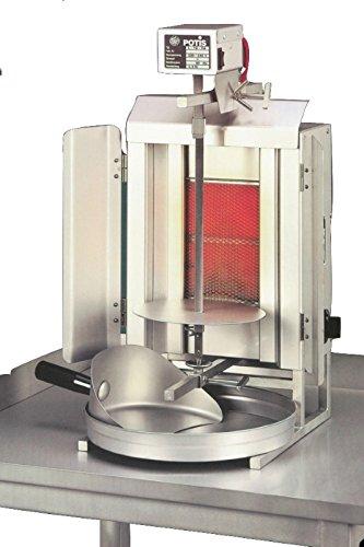 Gas-Gyrosgerät Potis GD1, 340x420x605mm, komplett, mit Fett-