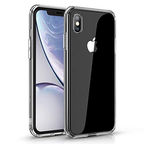 Agedate Hülle Für iPhone X iPhone XS Transparent Handyhülle Silikon Case Kompatibel mit iPhone X/XS, Ultra Dünn Weich TPU Durchsichtig Handyhülle Stoßdämpfend Kratzfest für iPhone X/XS,Kristalklar
