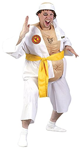 Funworld Mens Funny Kung Fu Lou Fighter Party Fancy Comical Costume, One Size