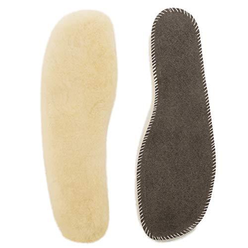 CHRIST Einlegesohlen aus 100% medizinischem Lammfell Unisex (Damen & Herren) Schuh-Einlagen aus weichem Fell, für Winter und Sommer, Größen 41-42