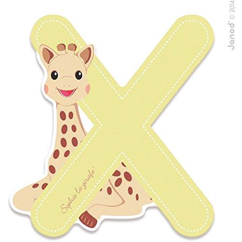 Janod LETRE Serie Sophie LA Girafe (Bois) - X (J09568), Multicolore (1