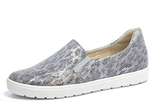 CAPRICE Damen Slipper 9-24672-28 Grey Leo 214 Leder (41)