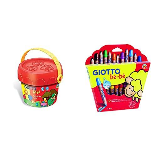 Giotto be-bè Súper Cofre + 466500 Estuche 12 Súper Lápices De Colores (Mina De 7 Mm Diámetro, Capuchón Posterior De Seguridad Anti-Mordedura, Anti Ahogo Y Sacapuntas), Multicolor