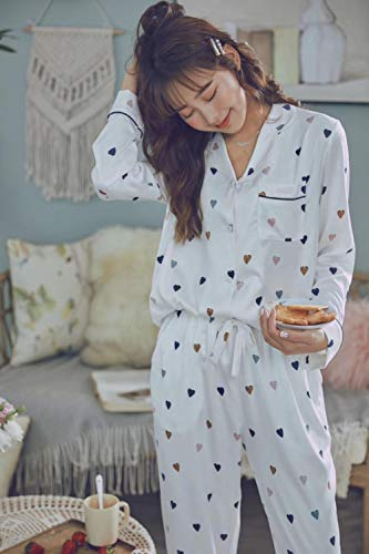 ❤El material está muy cerrado a la piel y puede ayudarlo a mantener el agua de la piel. ❤ DÍAS PERFECTOS: ¿Qué mejor ocasión para usar nuestro conjunto de pijama de mujer que en esos días de edredón donde puedes relajarte en la cama hasta que te sien...