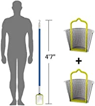 Small Pool Skimmer Deep Net and Hook for Cleaning The Skimmers / 2 Universal Skimmer Basket Handle Accessories/Skim Around The Pool and Hot Tub SPA with The Lightweight Pole