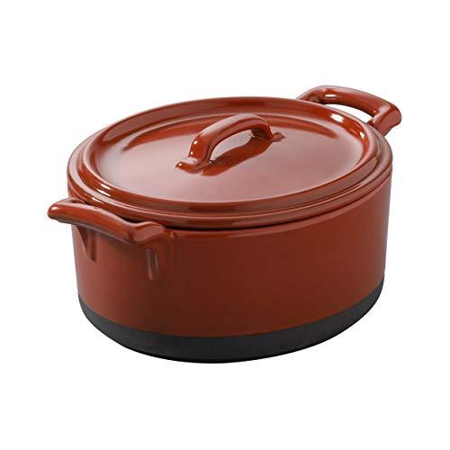 Revol - cocotte 45cl en porcelaine avec couvercle - belle cuisine eclipse Couleur - Rouge piment, Tailles - 13,5 x 12,2 x H. 8 cm - 45 cl