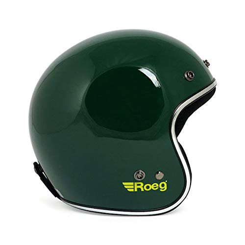Casco Jet roeg Green Gloss Verde Brillante homologado ECE Biker Custom Small Green Gloss