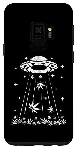 Galaxy S9 UFO Alien Cannabis 420 Weed Marijuana THC Stoner Gift Case