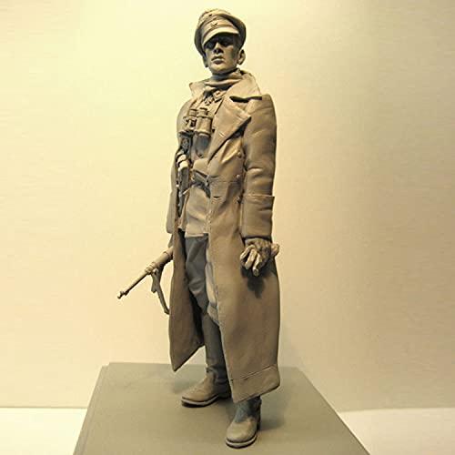PANGCHENG 1/16 Untersturmfuhrer 1943-44, Frente Occidental, Figura de Resina de Soldados GK, Tema de Guerra Militar de la Segunda Guerra Mundial, sin Recubrimiento sin Color