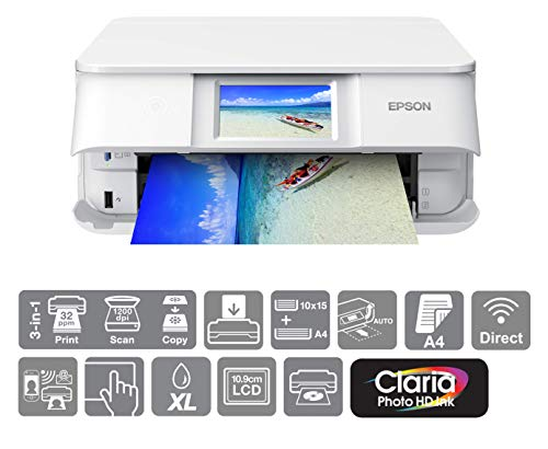 Epson Expression Photo XP-8605 Print/Scan/Copy Wi-Fi Printer, White