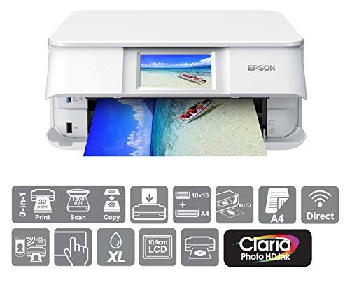 Epson Expression Photo XP-8605 Print/Scan/Copy Wi-Fi Printer, Wh