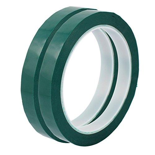 sourcingmap® 2 Stk 12 mm Einseitig starke Selbstklebende Mylar Tape 50M lang Logo Tape Grün DE de