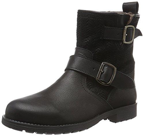 Clic! Stiefel, Mädchen Kurzschaft Stiefel, Schwarz (Buttero Negro/Canestrino Ng), 41 EU