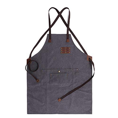 DXL-Men's Bags Studio Craftsman Apron Retro wasserdichtes und ölbeständiges Werkzeug Apron Wear Carpenter Maler Canvas Schürze Herrentaschen (Color : Gray)