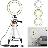 Note - Tripod Not Include ) {Dimmable Ring Light: 3 colors lighting mode cool white, warm white, and day light. Each lighting mode has 11 adjustable brightness to choose from, meet all your needs in different circumstances. It is the perfect dimmable...