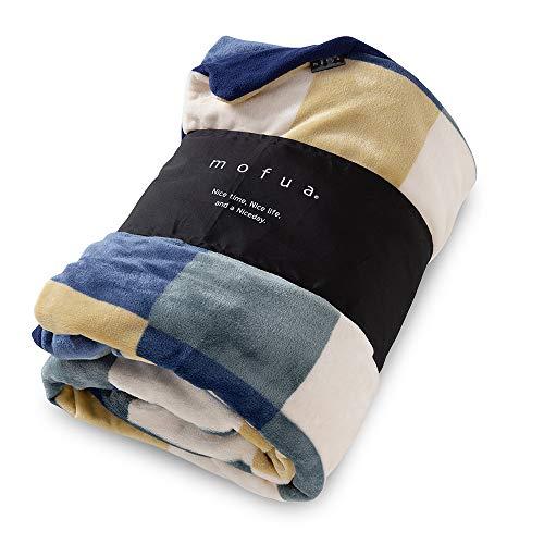 S グリーン mofua 布団を包めるぬくぬく毛布 チェック柄 グリーン S 402501C9