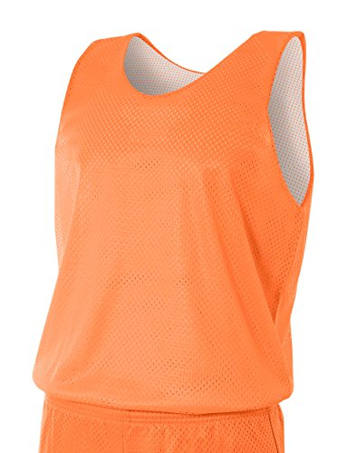 Men\'s Reversible Mesh Tank Top ORANGE/ WHITE 2XL