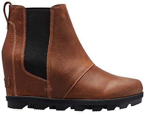 Sorel - Women's Joan of Arctic Wedge II Chelsea, Leather or Suede Ankle Boot, Elk, 8 M US