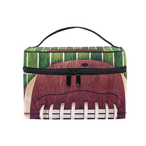 Ahomy Grand sac de maquillage vintage américain et sac de voyage portable pour femme