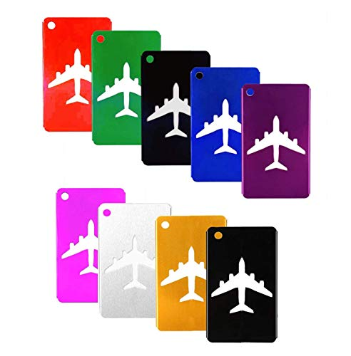 Luggage Tags Labels Baggage, Landisun Travel 9 Colors Packs New(2019)
