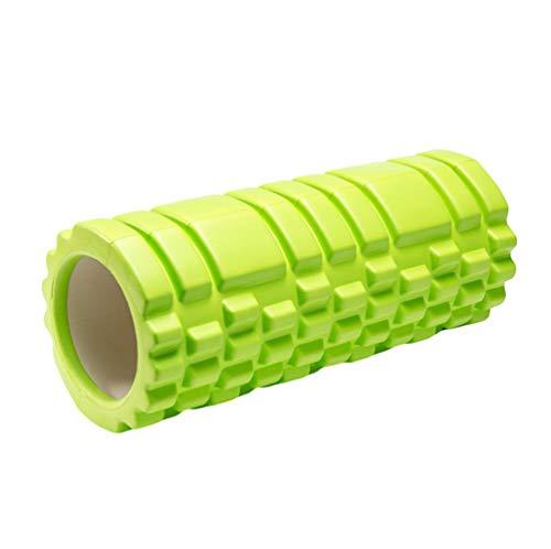 Kuncg Schaum Massagerolle für Einfache Effektive Selbstmassage, für Yoga, Pilates, Fitness und als Faszien Rolle (Grün,33 * 14 cm)