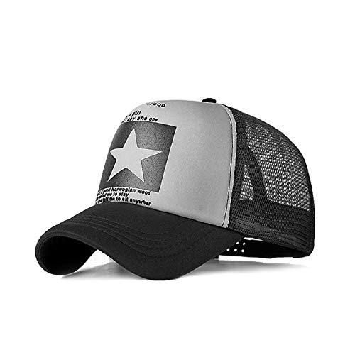 Gorra de béisbol para Hombres Gorra de Malla para Mujeres Hombres Sombreros Snapback para el Sol Gorra de béisbol Ajustable para Hombres-Mesh Grey