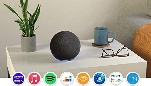 Der neue Echo (4. Generation), Anthrazit + Amazon Smart Plug (WLAN-Steckdose), Funktionert mit Alexa