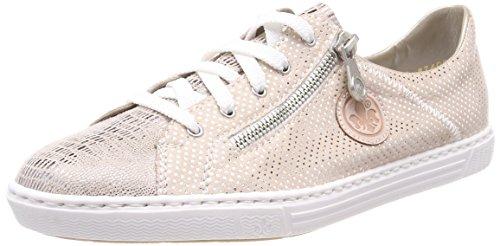 Rieker Damen L0943 Sneaker, Beige (Ginger/Nude-Silver/Rose), 39 EU