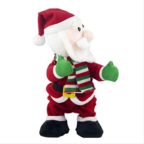 Revilium Christmas Decoration Ornaments Electric Plush Doll Singing Dancing Shaking Butt Santa Claus Toy Funny Novel