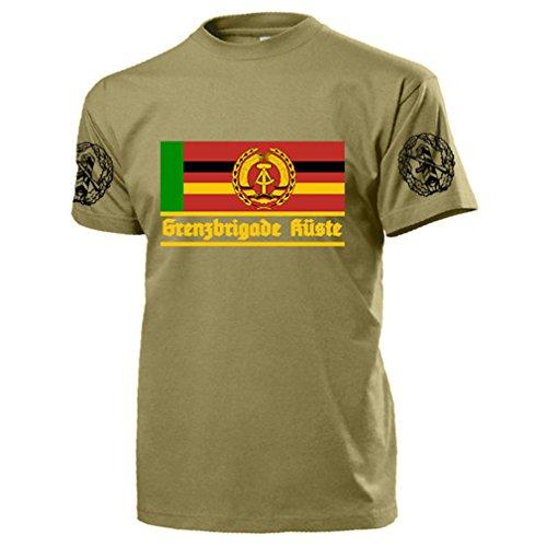 GBK Grenzbrigade Küste Veteran DDR NVA Ostdeutschland Wache - T Shirt #17533, Farbe:Sand, Größe:Herren XXL