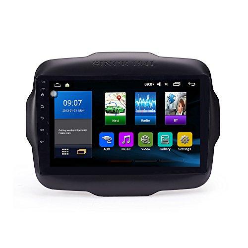 Android 10 autoradio Navigazione per auto headunit Stereo Lettore multimediale GPS Radio 2.5D IPS Touchscreen PerJeep Renegade 2016-2017