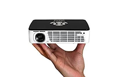 AAXA Technologies P300 Pico Projector with Rechargeable Battery - Native HD resolution with 500 LED Lumens, For Business, Home Theater, Travel and more (KP-600-01) (Renewed) by AAXA Technologies