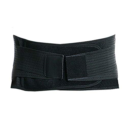 Fine Back Brace,Lumbar Support Belt, Wide Protection, Adjustable Compression & Breathable - for Gym, Posture, Lifting, Work, Pain Relief (Black, S)
