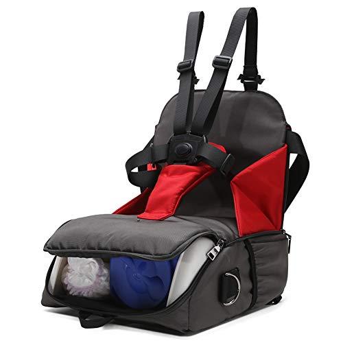 Comfort Alta Qualità 2 in 1 Multifunzione Alzasedia Sedia Pieghevole Portatile Rialzo da Viaggio Confortevole Rialzo da Sedia per Bambini Seggiolino da Booster con Cintura di Sicurezza .Regolabile