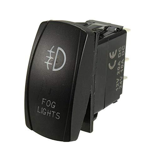 XIAOYAFANG HXFANG Azul LED Niebla luz de conducción lámpara de cableado arnés Interruptor Fusible 12V 40A Cableado de relé Kit de arnés de 300 vatios Capacidad de Carga Ahora Caliente