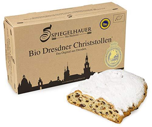 Bio Dresdner Christstollen 1 kg echter Dresdner Stollen im Präsentkarton