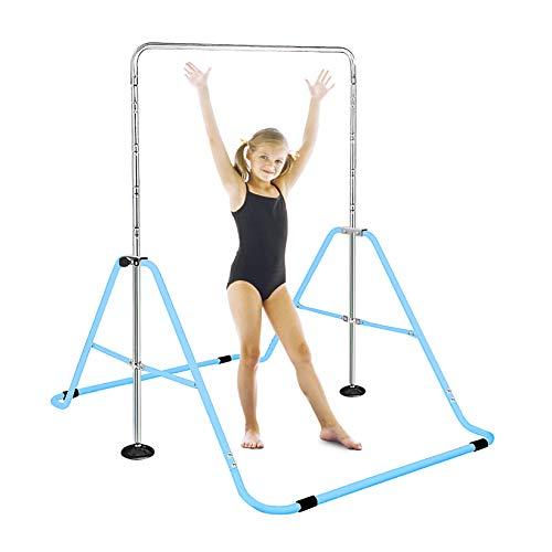 FBSPORT Gymnastics Trainning Kip Bar Expandable Horizontal Bar Adjustable Height Fitness Equipment for Home/Floor/Practice/Gymnastics/Tumbling/Parkour